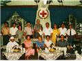 1986,瑞典红十字会代表团看望梁季华