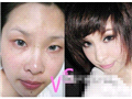 网络美女惊人的妆前妆后对比照