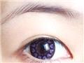 戴上超梦幻超可爱的紫色美瞳