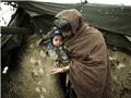 阿富汗喀布尔难民营里的严冬