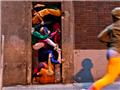 纽约街头人体雕塑--城市里的肉体