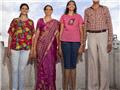 印度四口之家身高共近8米