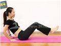 动作二:屈膝V字运动(收腹)