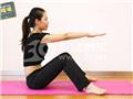 动作五:坐姿体前屈(预备姿势)