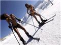 委内瑞拉选美小姐比基尼滑雪