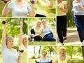 86岁老太体操双杠技惊四座
