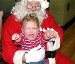 孩子见圣诞老人的乌龙场面