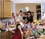 看看各国中产家庭一周伙食费差距