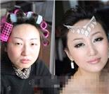 网络美女妆前妆后惊人对比照