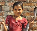 印度8岁女孩与眼镜王蛇同吃同睡