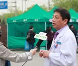 中国医学科学院肿瘤医院副院长蔡建强接受媒体采访